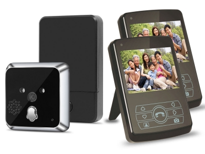 TL-E300A 2.4GHz Digital Home Security Wireless Video Door Viewer Camera with 3.5inch LCD Monitor